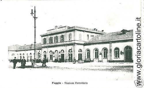 03337  CARTOLINA d'Epoca:  FOGGIA Citta': STAZIONE FERROVIARIA