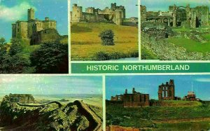 Historic Northumberland Warkworth Castle Alnwick Castle Tynemouth Postcard