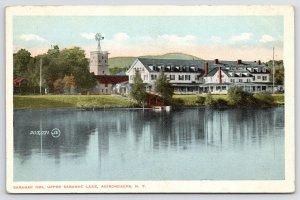 Old Saranac Inn on the Lake NY~Adirondacks~Windmill Tops Tower~Many Dormers 1923
