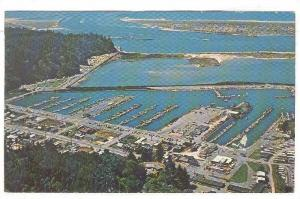 Aerial View of Salmon Harbor, Winchester Bay, Oregon, PU 1970