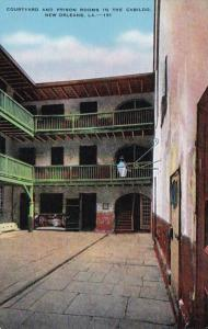 Louisiana New Orleans Courtyard and Prison Rooms In Spanish Cabildo