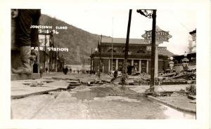 PA - Johnstown. March 18, 1936 Flood. Railroad Station   *RPPC