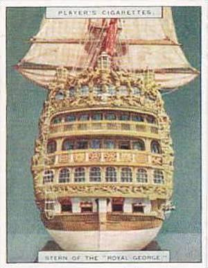 Player Vintage Cigarette Card Ship Models 1926 No 14 Stern of the Royal Georg...