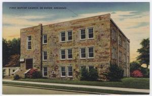 De Queen, Arkansas,  Early View of The First Baptist Church