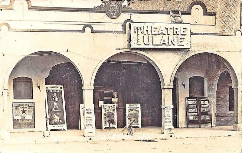 El Centro CA Tulane Theatre Movie Posters RPPC Postcard