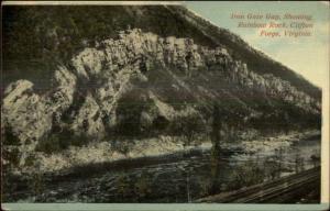 Clifton Forge VA Iron Gate Gap Rainbow Rock c1910 Postcard