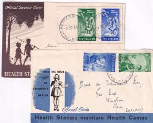 Silverstream Hospital New Zealand WW2 Health Stamps 3x FDC Postmark s
