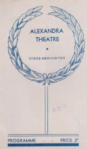 You Cant Take It With You Drama WW2 War Stoke Newington Theatre Programme