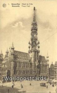 Brussels, Belgium, België, la Belgique, Belgien Hotel de Ville, Town Hall  H...