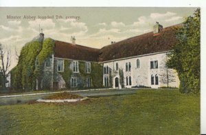 Kent Postcard - Minster Abbey Founded 7th Century - Ref 17159A