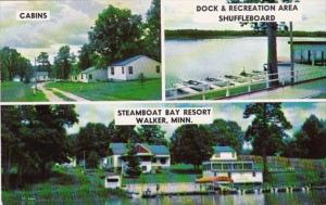 Minnesota Walker Steamboat Bay Resot Cabins Dock & Recreation Area