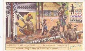 Liebig Trade Card S1437 Congolese Craftmanship No 3 La decoration Mangbetu