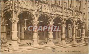 Old Postcard Liege Entree Provincial Palace