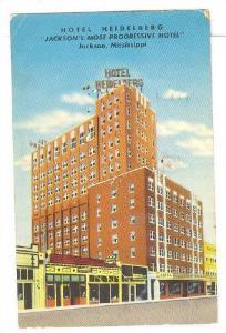 Exterior, Hotel Heidelberg, Jackson, Mississippi,PU-40-60s