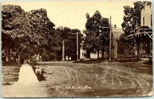 SYLVANIA, Pennsylvania Postcard Main Street Downtown Scene / 19190 PA Cancel