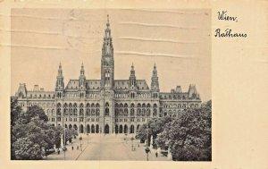 WIEN VIENNA RATHAUS~1937 PHOTO POSTCARD