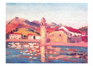 Postcard Art THE CHURCH, COLLIOURE (1911) by James Dickson Innes MU2429 #22