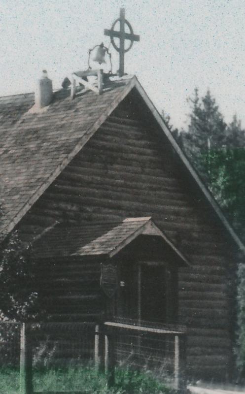 Hand-Colored RPPC Old Log Church at White Horse YT, Yukon Territory, Canada