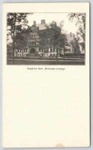 Williamstown Massachusetts~Williams College~Hopkins Hall~Trees on Lawn~c1905