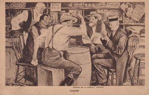1900-1910's; Men Playing Euchre