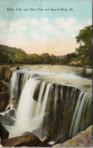 Bailey Falls IL near Deer Park and Starved Rock Unused Kneussl Bros Postcard G44