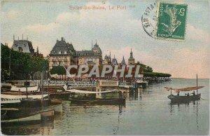Postcard Evian les Bains Old Port