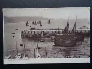 Pembrokeshire TRAWLERS IN TENBY HARBOUR c1904 Postcard by Raphael Tuck 1586