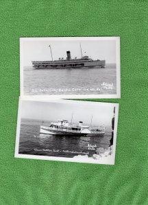 Santa Catalina Island RPPC Postcards Glass Bottom Boat Vtg California