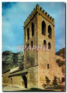 Postcard Modern Art and Colors Conflent Church of Villefranche de Conflent Th...