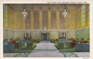 Nebraska Omaha New Burlington Station Main Lobby Curteich
