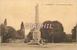 Old Postcard Alencon The War Memorial