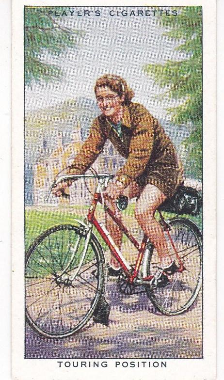 Cigarette Cards Players CYCLING No 46 Touring Position