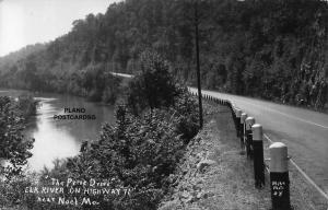 NOEL, MISSOURI THE PRIZE DRIVE-ELK RIVER ON HWY 71 RPPC REAL PHOTO POSTCARD