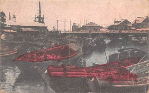 Native Boats at the Bridge od Yokohama Japan Postal Used Unknown