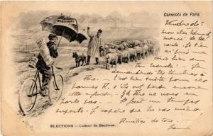 CPA Camelots de PARIS Elections - Colleur de Banlieu (215513)