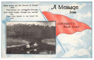 Rhode Island Conimicut , Poem , Canoe , Flag