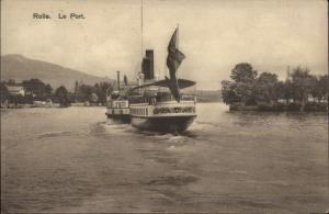Rolle Switzerland Le Port & Steamer Steamship c1910 Postcard
