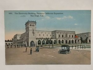 Postcard Electricity Building Panama Calif Exposition San Diego 1914 LA NY 1036