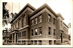 Vtg  RPPC 1940s Courer D'Alene Idaho ID Kootenai County Court House UNP