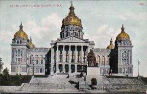 Iowa Des Moines State Capitol 1912