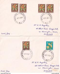 Waikato University New Zealand 1968 Frank Postmark 2x Ephemera