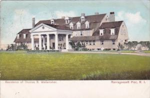 Rhode Island Narragansett Pier Residence Of Thomas B Wanamaker 1906