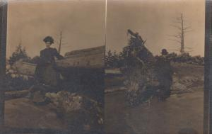 RP: FERRELL , Idaho, 1909; Split view picture of man and woman posing