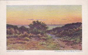 Rhode Island Nantueket A Glimpse From Polpis Road