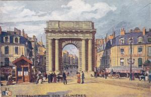BORDEAUX, Gironde, France, 1900-1910's; Porte Des Salinieres, Cafe