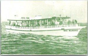1950s Tarpon Springs Florida Postcard MISS MILWAUKEE Charter Fishing Boat Unused