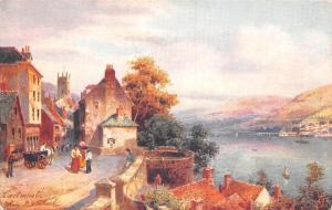 England Dartmouth Castle & Church, Raphael Tuck Aquarette
