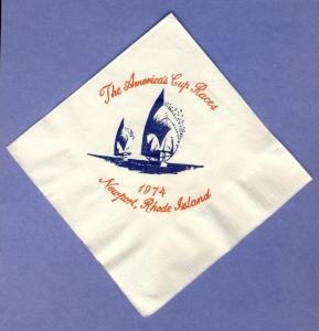 1974 America's Cup Cocktail Napkin,Newport, Rhode Island/RI