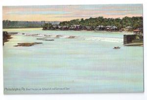 Boat House Row Fairmount Dam Philadelphia PA Leighton c 1910