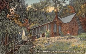 La Crosse WI~Couple Climb Steps to Eagle Bluff Summer Home~Screen Porch~1912